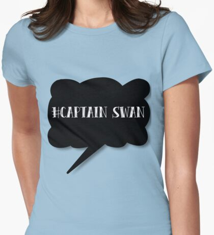 Hashtag Captain Swan Womens Fitted T-Shirt