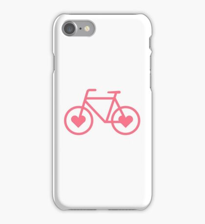 Pink Bicycle Love - Fixie Hearts iPhone Case/Skin