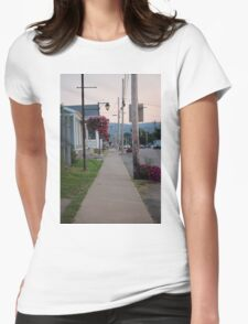 Small Town Street Womens Fitted T-Shirt