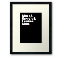 Marx&Engels&Lenin&Mao. Framed Print