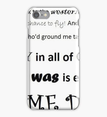Wicked - Defying Gravity iPhone Case/Skin