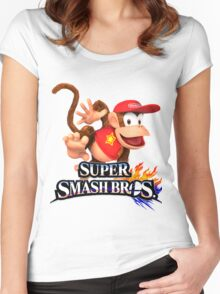 diddy kong Women's Fitted Scoop T-Shirt