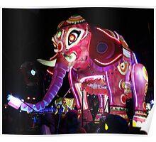 french lyon elephant Poster