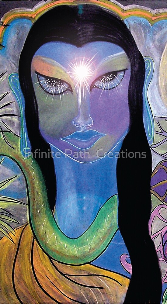 Celestial Gaze (from Chalk Meditation #13) June 2007 by Infinite Path  Creations