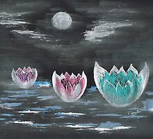 Giant Lilies Upon Misty Waters by Teresa White