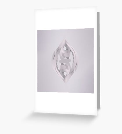 Leaf Sculpture White Greeting Card