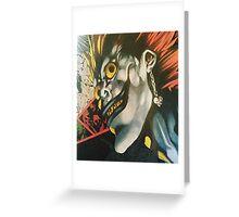 Ryuku shinigami death note Greeting Card