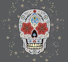 Day of The Dead colorful sugar Skull  by naum100