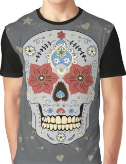 Day of The Dead colorful sugar Skull  Graphic T-Shirt