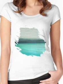 Aqua Women's Fitted Scoop T-Shirt