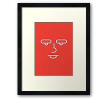 try and smile a little - BOY + red Framed Print