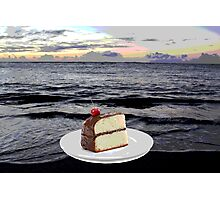 Cake by the Ocean Photographic Print