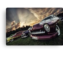 Flakes and Flames Canvas Print