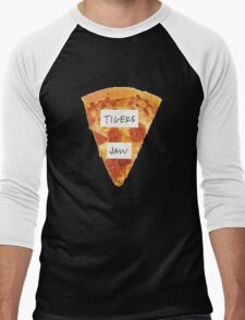 Tigers Jaw Pizza Logo Men's Baseball ¾ T-Shirt