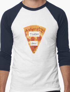 Tigers Jaw Pizza Logo Men's Baseball ¾ T-Shirt