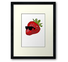 Strawberry wearing Shades Framed Print