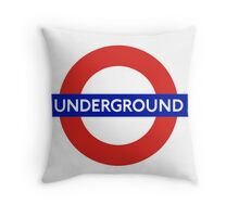 London underground sign Throw Pillow