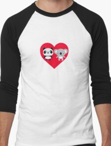 Panda and Koala Love Men's Baseball ¾ T-Shirt