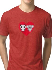Panda and Koala Love Tri-blend T-Shirt