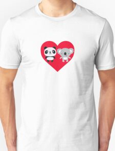 Panda and Koala Love Unisex T-Shirt