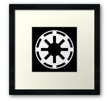 Galactic Republic (white) Framed Print