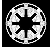Galactic Republic (white, distressed) Photographic Print