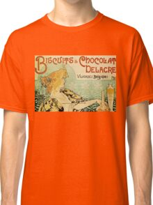 Vintage poster - Biscuits and Chocolat Delacre Classic T-Shirt