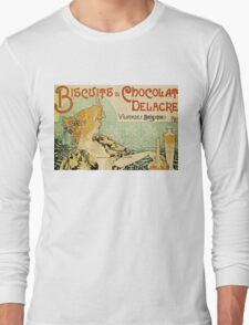 Vintage poster - Biscuits and Chocolat Delacre Long Sleeve T-Shirt