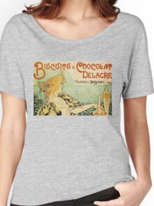 Vintage poster - Biscuits and Chocolat Delacre Women's Relaxed Fit T-Shirt