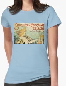 Vintage poster - Biscuits and Chocolat Delacre Womens Fitted T-Shirt
