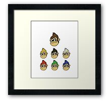 Colored Apes Framed Print
