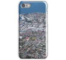 aerial view of Hobart city/port area iPhone Case/Skin