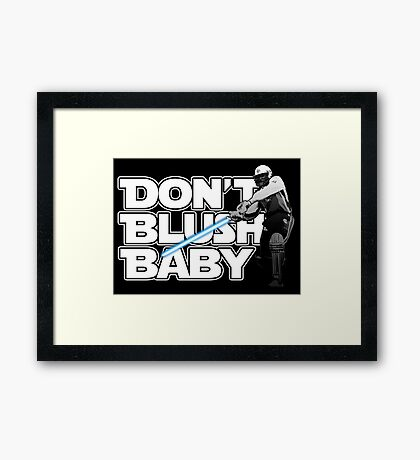 don't blush baby - chris gayle jedi Framed Print
