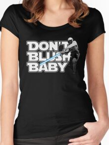 don't blush baby - chris gayle jedi Women's Fitted Scoop T-Shirt
