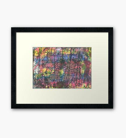 Multi colored crackle Framed Print