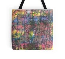 Multi colored crackle Tote Bag