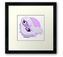 Amethyst as I see her by Mariana Abreu Framed Print