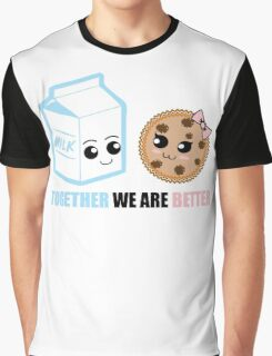 Milk and Cookie Love Graphic T-Shirt