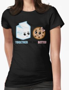 Milk and Cookie Love Womens Fitted T-Shirt
