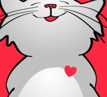 Tickle My Heart Cat Sticker