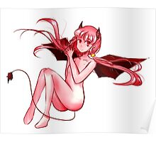 red anime girl devil Poster