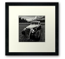 black white rod Framed Print