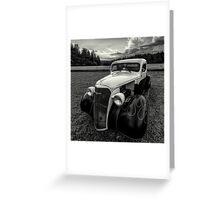 black white rod Greeting Card