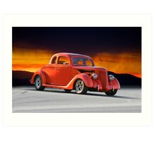 1936 Ford 'Five Window' Coupe Art Print