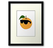 Orange Wearing Shades  Framed Print