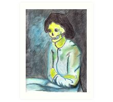 van gogh - woman with folded arms skull Art Print