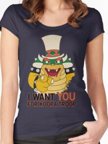 Recruiting for Koopa Troop Women's Fitted Scoop T-Shirt