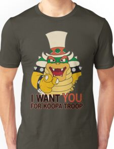 Recruiting for Koopa Troop Unisex T-Shirt