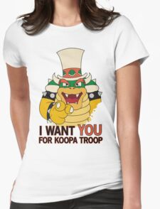 Recruiting for Koopa Troop Womens Fitted T-Shirt