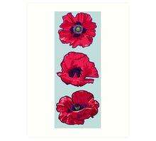Poppies - August Birth Flower Art Print